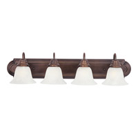 Essentials 4 Light 30 inch Oil Rubbed Bronze Bath Light Wall Light in Marble