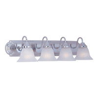 Maxim 8014MRPC Essentials 4 Light 30 inch Polished Chrome Bath Light Wall Light in Marble
