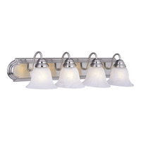 Maxim 8014MRSN Essentials - 801x 4 Light 30 inch Satin Nickel Bath Light Wall Light in Marble