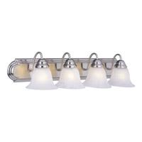 Maxim 8014MRSN Essentials 4 Light 30 inch Satin Nickel Bath Light Wall Light in Marble