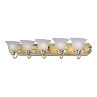Maxim Lighting Essentials 5 Light Bath Vanity in Polished Brass 8015MRPB photo thumbnail