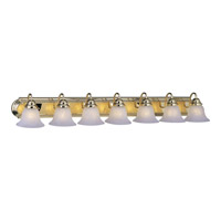 Maxim Lighting Essentials 7 Light Bath Vanity in Polished Brass 8016MRPB photo thumbnail