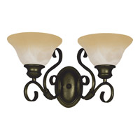 Pacific 2 Light 16 inch Kentucky Bronze Bath Light Wall Light in Wilshire