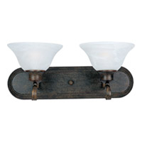 Pacific 2 Light 18 inch Kentucky Bronze Bath Light Wall Light in Marble, 18 in.
