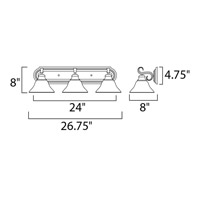 Maxim 8023MRPE Pacific 3 Light 26 inch Pewter Bath Light Wall Light in Marble, 26 in. alternative photo thumbnail