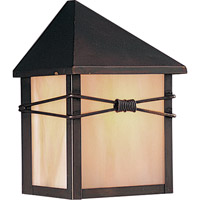 Maxim 8041IRBU Taliesin 1 Light 8 inch Burnished Outdoor Wall Mount photo thumbnail