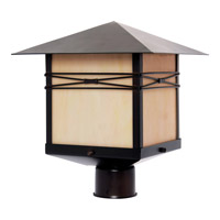 Maxim Lighting Taliesin 1 Light Outdoor Pole/Post Lantern in Burnished 8044IRBU