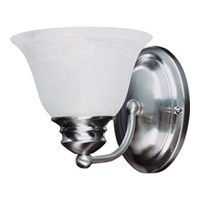 Maxim Lighting Malaga Energy Efficient 1 Light Wall Sconce in Satin Nickel 82686MRSN