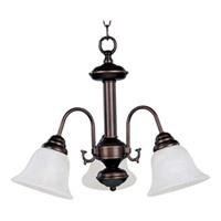 Maxim Lighting Malaga Energy Efficient 3 Light Mini Chandelier in Oil Rubbed Bronze 82697MROI