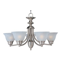 Maxim Lighting Malaga Energy Efficient 5 Light Single Tier Chandelier in Satin Nickel 82699MRSN