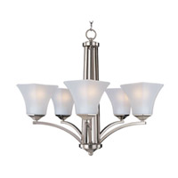 Maxim Lighting Aurora Energy Efficient 5 Light Single Tier Chandelier in Satin Nickel 83095FTSN