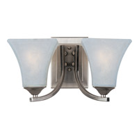 Aurora Energy Efficient 2 Light 14 inch Satin Nickel Wall Sconce Wall Light