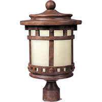 Maxim 85036MOSE Santa Barbara Energy Efficient 1 Light 16 inch Sienna Outdoor Pole/Post Lantern