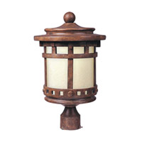Maxim Lighting Santa Barbara Energy Efficient 1 Light Outdoor Pole/Post Lantern in Sienna 85037MOSE