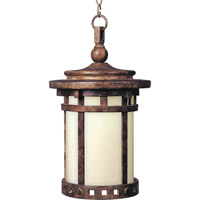 Maxim 85038MOSE Santa Barbara Energy Efficient 1 Light 9 inch Sienna Outdoor Hanging Lantern