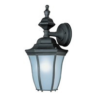 Maxim Lighting Madrona Energy Efficient 1 Light Outdoor Wall Mount in Black 85041BK