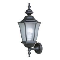 Maxim Lighting Madrona Energy Efficient 1 Light Outdoor Wall Mount in Black 85044BK