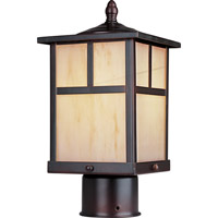 Maxim 85055HOBU Coldwater Energy Efficient 1 Light 12 inch Burnished Outdoor Pole/Post Lantern