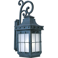 Maxim Lighting Nantucket Energy Efficient 1 Light Outdoor Wall Mount in Country Forge 85085FSCF