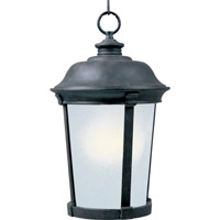 Maxim Lighting Dover Energy Efficient 1 Light Outdoor Hanging Lantern in Bronze 85099FSBZ
