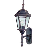 Maxim 85103RP Westlake Energy Efficient 1 Light 24 inch Rust Patina Outdoor Wall Mount