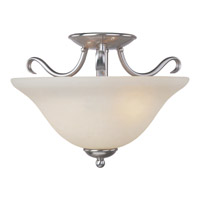 Basix Energy Efficient 2 Light 14 inch Satin Nickel Semi Flush Mount Ceiling Light in Ice