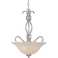 Maxim 85121ICSN Basix Energy Efficient 3 Light 17 inch Satin Nickel Pendant Ceiling Light