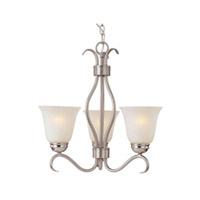 Maxim Lighting Basix Energy Efficient 3 Light Mini Chandelier in Satin Nickel 85123ICSN