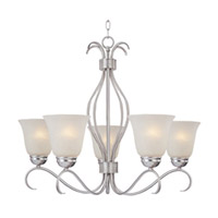 Maxim Lighting Basix Energy Efficient 5 Light Single Tier Chandelier in Satin Nickel 85125ICSN