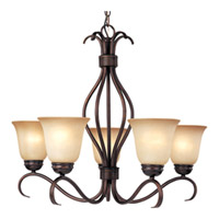 Maxim Lighting Basix Energy Efficient 5 Light Single Tier Chandelier in Oil Rubbed Bronze 85125WSOI