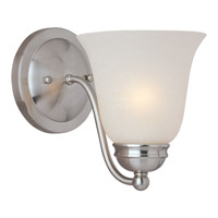 Maxim Lighting Basix Energy Efficient 1 Light Wall Sconce in Satin Nickel 85131ICSN
