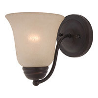 Maxim Lighting Basix Energy Efficient 1 Light Wall Sconce in Oil Rubbed Bronze 85131WSOI