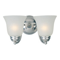 Maxim Lighting Basix Energy Efficient 2 Light Bath Light in Satin Nickel 85132ICSN