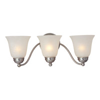Maxim Lighting Basix Energy Efficient 3 Light Bath Light in Satin Nickel 85133ICSN