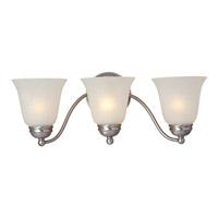 Maxim 85133ICSN Basix Energy Efficient 3 Light 19 inch Satin Nickel Bath Light Wall Light