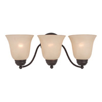 Maxim Lighting Basix Energy Efficient 3 Light Bath Light in Oil Rubbed Bronze 85133WSOI