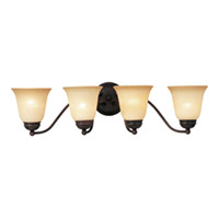 Maxim Lighting Basix EE 4 Light Bath Light in Oil Rubbed Bronze 85134WSOI