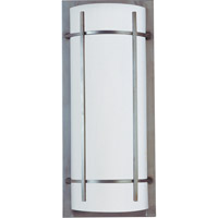 Maxim Lighting Luna Energy Efficient 2 Light Outdoor Wall Mount in Brushed Metal 85216WTBM