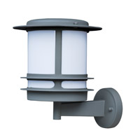 Maxim Lighting Oslo Energy Efficient 1 Light Outdoor Wall Mount in Platinum 85312WTPL