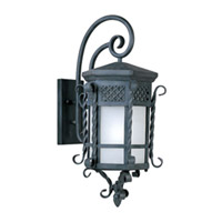 Maxim Lighting Scottsdale Energy Efficient 1 Light Outdoor Wall Mount in Country Forge 85325FSCF