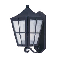Maxim 85332CDFTBK Revere 1 Light 15 inch Black Outdoor Wall Mount