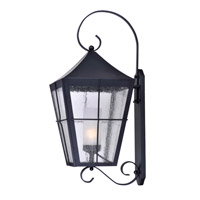 Revere 1 Light 30 inch Black Outdoor Wall Mount