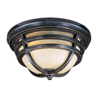 Maxim Lighting Westport VX Energy Efficient 2 Light Outdoor Ceiling Mount in Artesian Bronze 85409MCAT