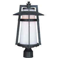 Maxim 85430SWAE Calistoga 1 Light 19 inch Adobe Post Lantern
