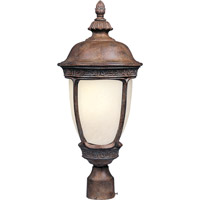 Maxim 85460SFSE Knob Hill Energy Efficient 1 Light 23 inch Sienna Outdoor Pole/Post Lantern