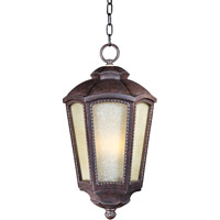 Maxim Lighting Pacific Heights VX EE 1 Light Outdoor Hanging Lantern in Mottled Leather 85497TLML