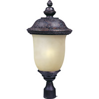 Maxim 85520MOOB Carriage House Energy Efficient 1 Light 27 inch Oriental Bronze Outdoor Pole/Post Lantern