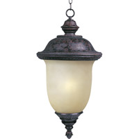 Maxim Lighting Carriage House Energy Efficient 1 Light Outdoor Hanging Lantern in Oriental Bronze 85527MOOB