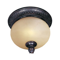 Maxim Lighting Carriage House Energy Efficient 2 Light Outdoor Ceiling Mount in Oriental Bronze 85529MOOB