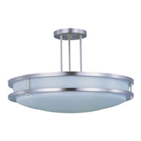 Maxim Lighting Linear 2 Light Flush Mount in Satin Nickel 85548WTSN